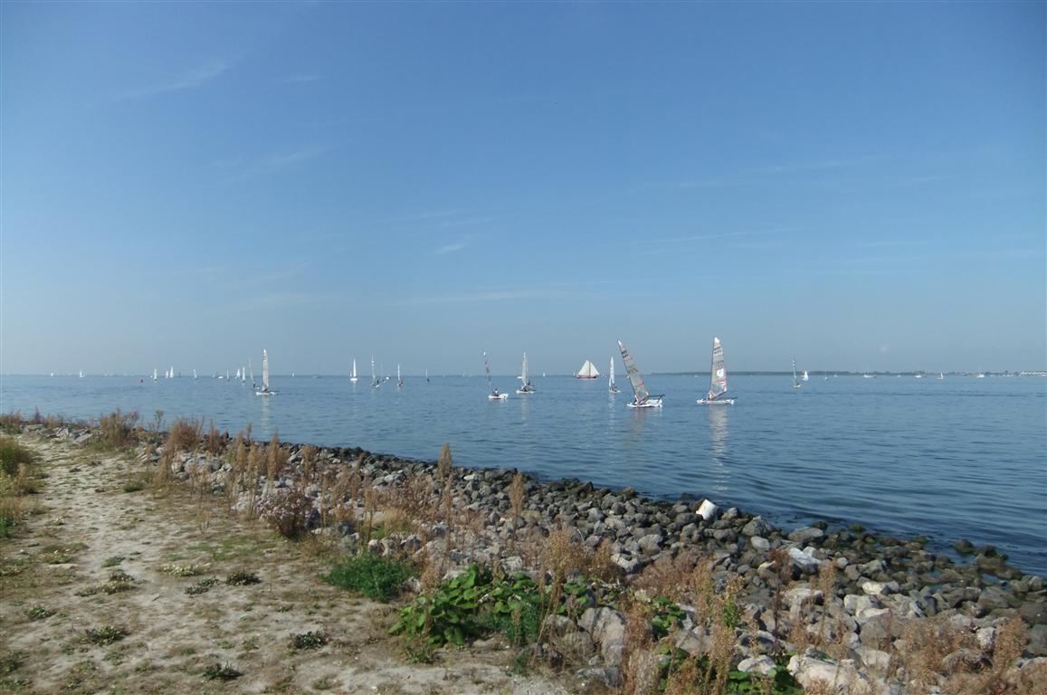 Strand und Segelschule im Yachthafen Bruinisse
